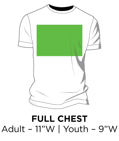 "Full Chest - Adult - 11""W 
